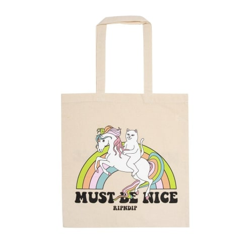 RIPNDIP My Little Nerm Canvas Tote Bag - Natural