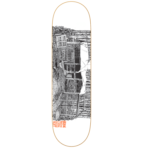 Heroin Skateboards Cabin Series 2 Craig Questions Skateboard Deck - 8.62