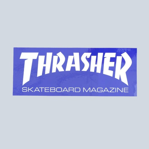 Thrasher Super Skate Mag Sticker Blue