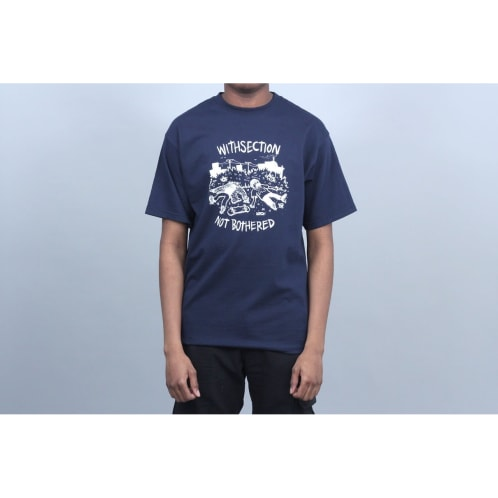 WITH Not Bothered T-Shirt Navy
