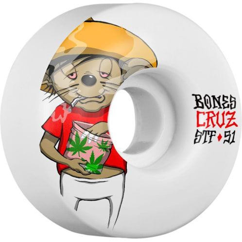 Bones Skateboard Wheels Cruz Weedy V2 Street Tech Formula STF 51mm