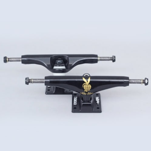 Thunder 147 Miles Player Hollow Lights Trucks Black (Pair)