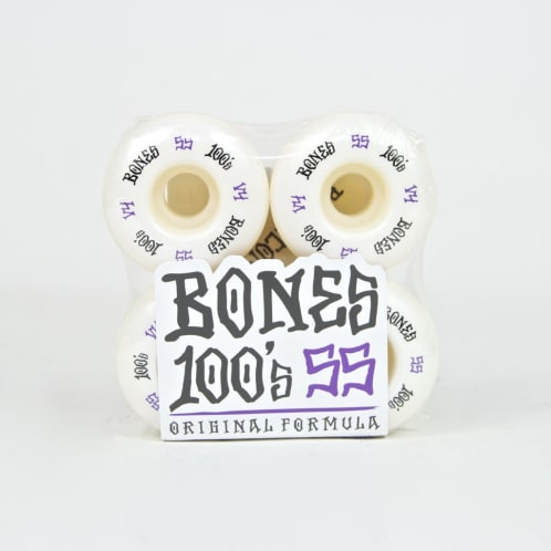 Bones - 55mm 100's V4 Skateboard Wheels