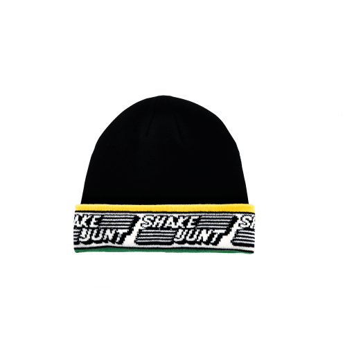 Shake Junt Speed Beanie - Black/Yellow/Green
