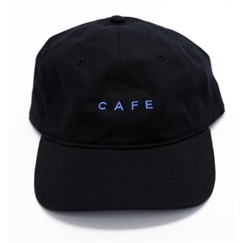 Skateboard Cafe - Cafe Embroidered 6-Panel Cap - Black