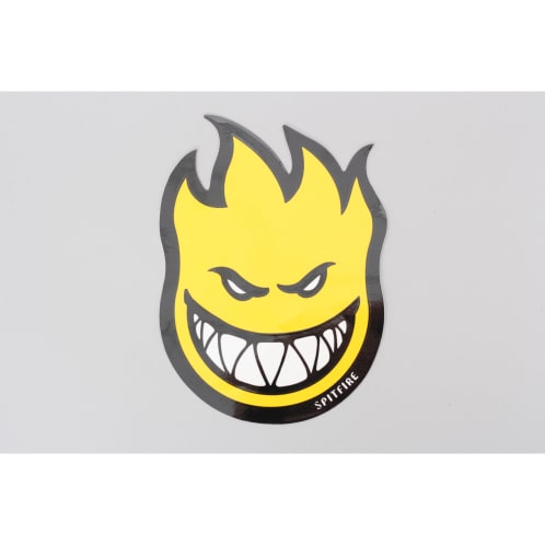 Spitfire Wheels Classic Sticker Yellow