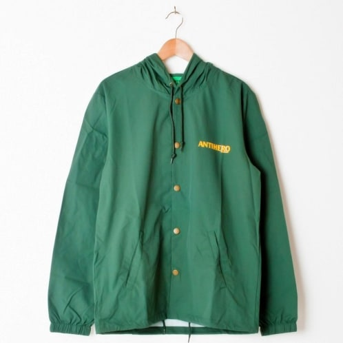 Antihero Back Eagle Hooded Coach Jacket Forest Green