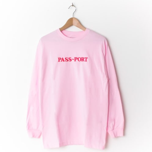 Pass~Port Official Embroidered Longsleeve Pink