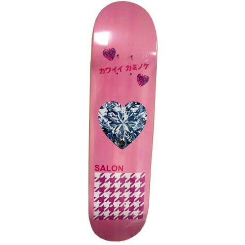 "Salon ""Diamond Hear"" Skateboard Deck 8"""