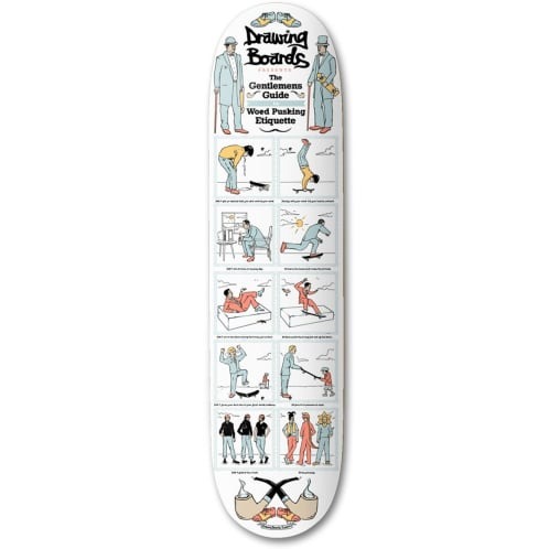 Drawing boards Gentleman's Guide Skateboard Deck
