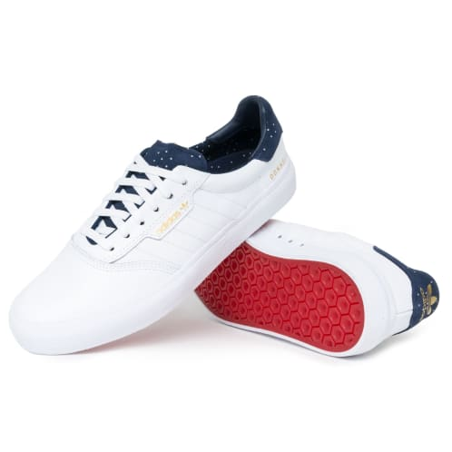 Adidas 3MC x Jake Donnelly Shoes - White/Navy/Gold