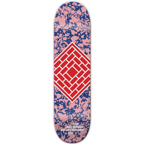 """The National Classic Logo Deck Pink - 8.125"""""""