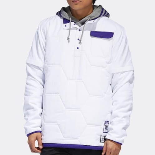 Adidas Skateboarding X Hardies Hardware Jacket - White/Collegiate Purple/Black