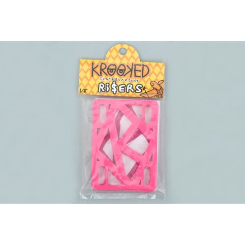 Krooked 1/8 Inch Risers (pack of 2) Hot Pink