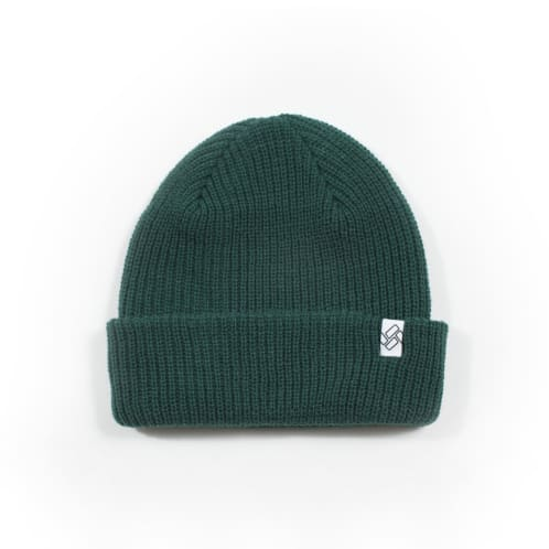 Severn Ilford Short Cuff Beanie - Dark Green