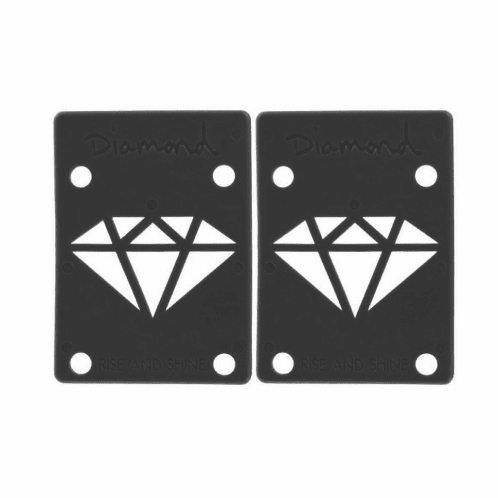 "Diamond 1/8"" Black Riser Pads"