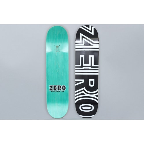 Zero 7.75 Bold Skateboard Deck Black / White