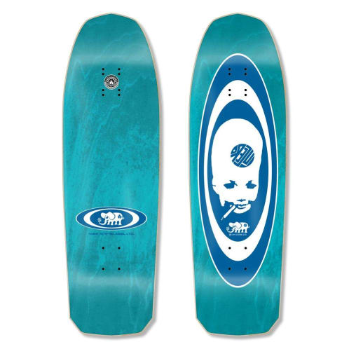"Black Label John Lucero ""Thumbhead 2"" Re-Issue Skateboard Deck 10.00"" (Teal Stain)"
