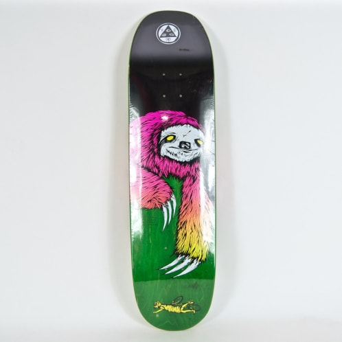 """Welcome Skateboards - 8.5"""" Sloth On Moontrimmer Deck (Green Stain)"""
