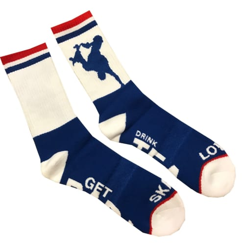 Lovenskate x Apart Together Socks - Blue/White/Red