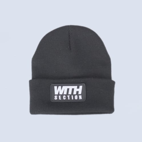 WITH Patch Beanie Black
