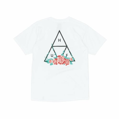 City Rose Triple Triangle T-Shirt | White