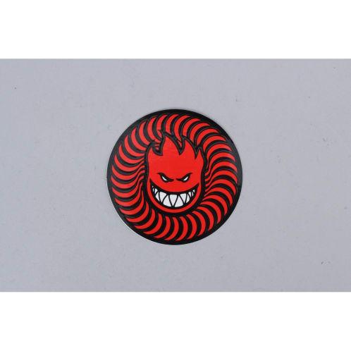 Spitfire Swirl Head Sticker Red