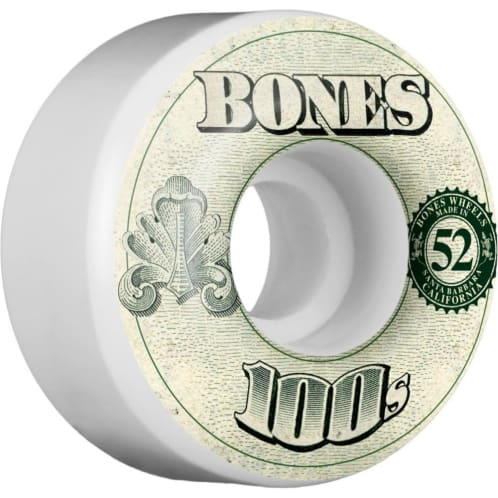 Bones Skateboard Wheels OG 100's #11 V4 52mm