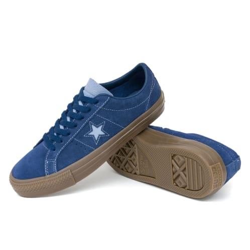 Converse One Star Pro OX Shoes - Navy/Indigo Fog/Brown