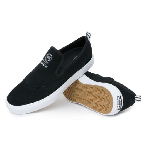 Adidas Matchcourt Slip Shoes - Black/White/Gum4
