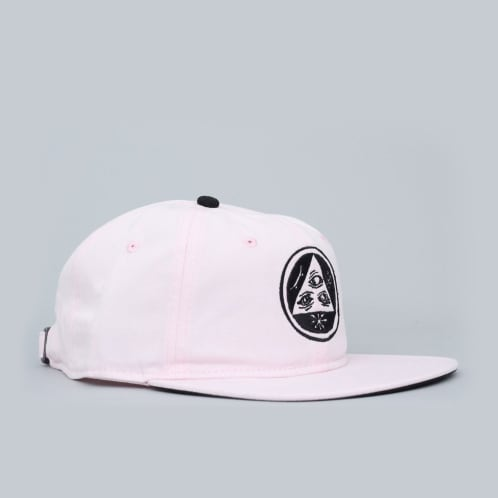 Welcome Talisman Unstructured Snapback Cap Pink / Black
