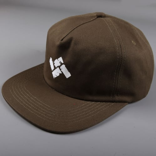 Severn 'Masonry' Strapback Cap (Olive Green Cotton Twill)