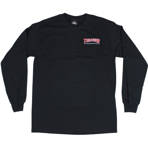 Thrasher Outline Longsleeve T-Shirt Black