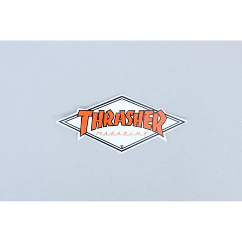 Thrasher Diamond Logo Sticker White