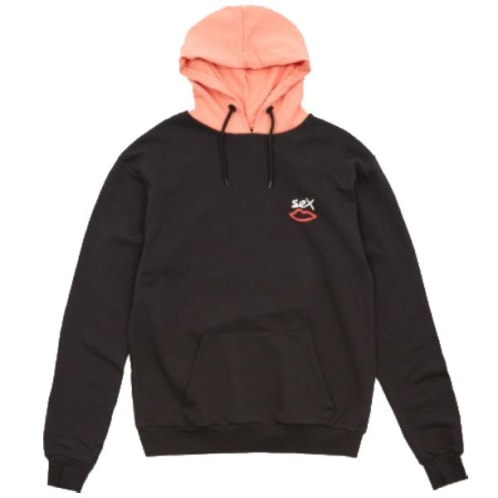 Sex Skateboards Two Tone Hooded Sweatshirt - Black/Pink