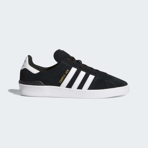 Adidas Campus ADV Shoes - Core Black/Cloud White/Cloud White