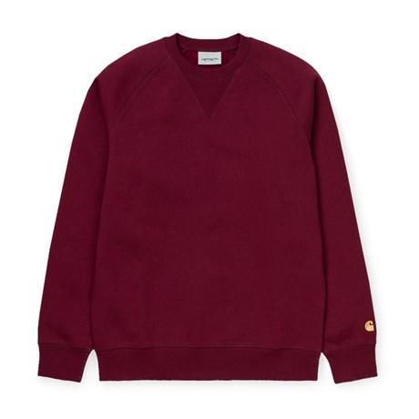 Carhartt Chase Sweatshirt - Cranberry/Gold