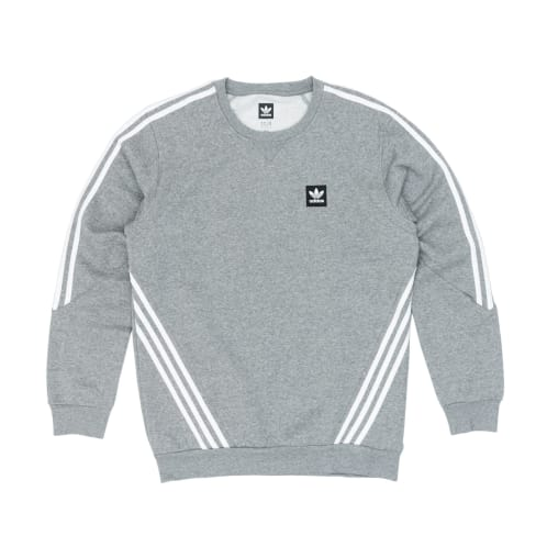 Adidas Insley Crew Sweatshirt - Core Heather/White