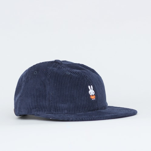 Pop Trading Bruna 6 Panel Cap Navy Cord