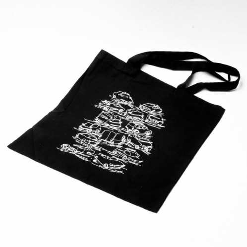 Traffic Out In The Street Tote Bag Black