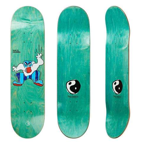 "Polar Skate Co ""Falling Down"" Skateboard Deck 8.5"""