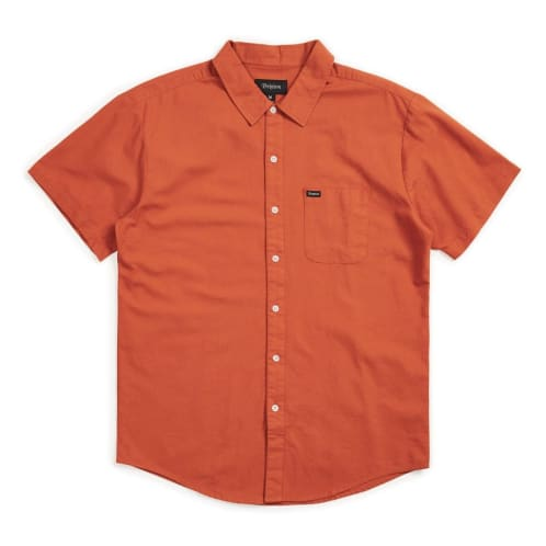 Brixton Charter Oxford S/S Woven Shirt - Henna