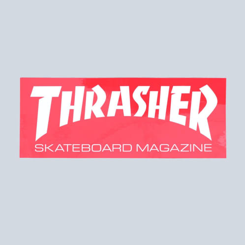 Thrasher Super Skate Mag Sticker Red