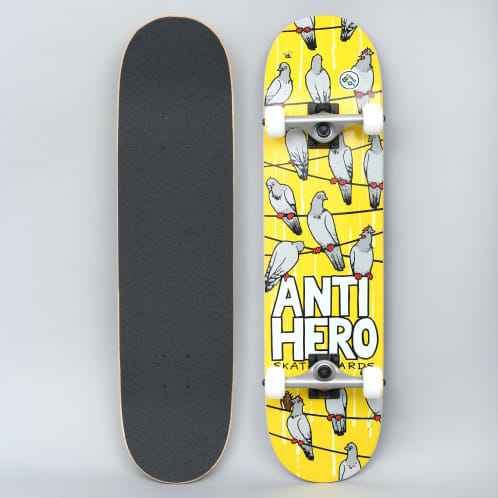 Anti Hero 8 Conference Call Large Complete Skateboard Yellow