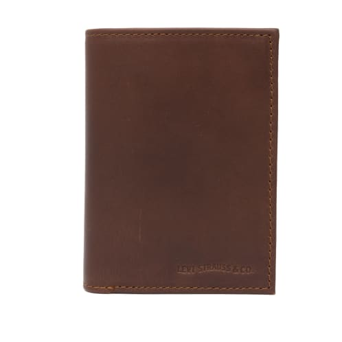 Levis Knoll Coin Bi-Fold Wallet - Dark Brown
