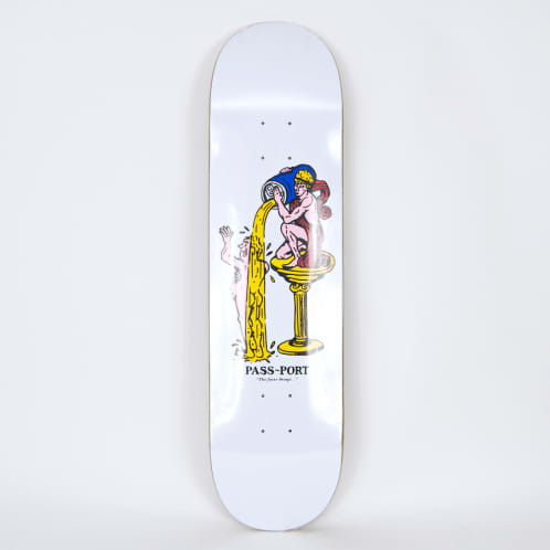 """Pass Port Skateboards - 8.25"""" The Finer Things Deck (White)"""