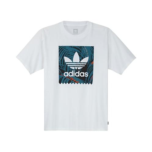 Adidas BB Print 2 T-Shirt - White/Teal/Orange