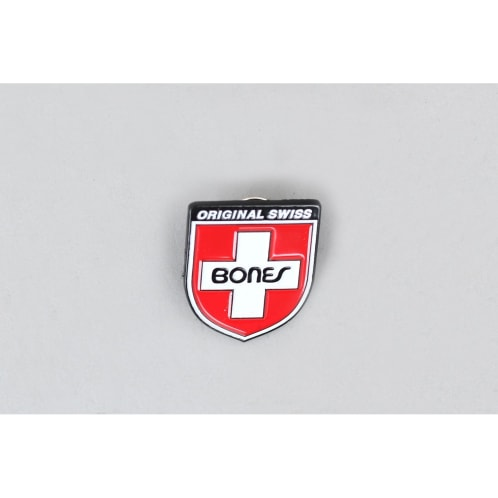 Bones Swiss Shield Lapel Pin