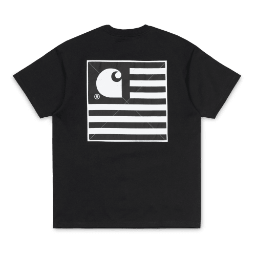 Carhartt S/S State Patch T-Shirt - Black