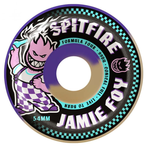 Spitfire Formula Four Jamie Foy Full Conical Wheels Natural 54 mm 99